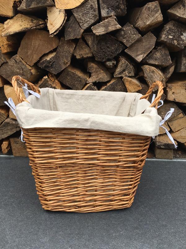 Rope twist square medium brown basket | Almondsbury Forge