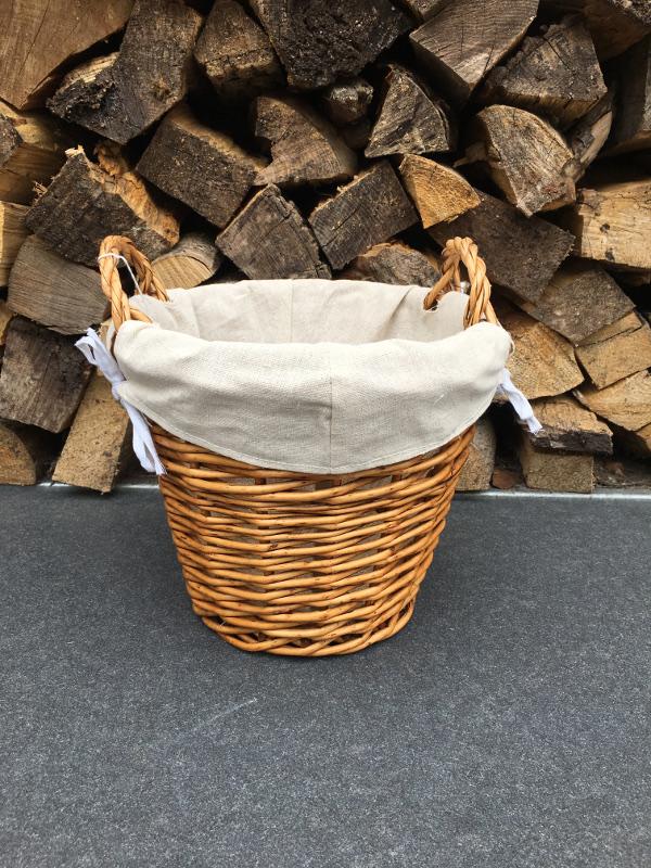 Rope twist round small brown basket | Almondsbury Forge